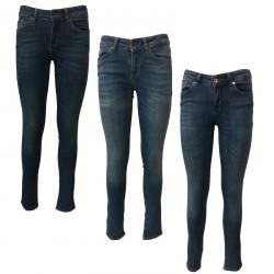SEVEN7 jeans donna skinny vita alta con zip mod MIRA 1247015 Medium Rise