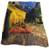 """VESTILARTE foulard """"Coffee Terrace On the Place Du Forum At The Night"""" by Van Gogh 119 cm x 150 cm MADE IN ITALY 100% MicroModal"""