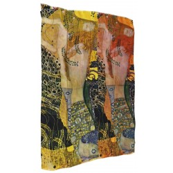 "VESTILARTE ""Sea Serpents I"" foulard by Gustave Klimt 117 cm x 150 cm MADE IN ITALY"