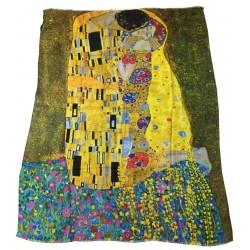 VESTILARTE foulard The Kiss - Gustav Klimt 110 cm x 150 cm MADE IN ITALY 100% MicroModal