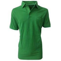 DELLA CIANA man polo half sleeve green with pocket100% cotton MADE IN ITALY