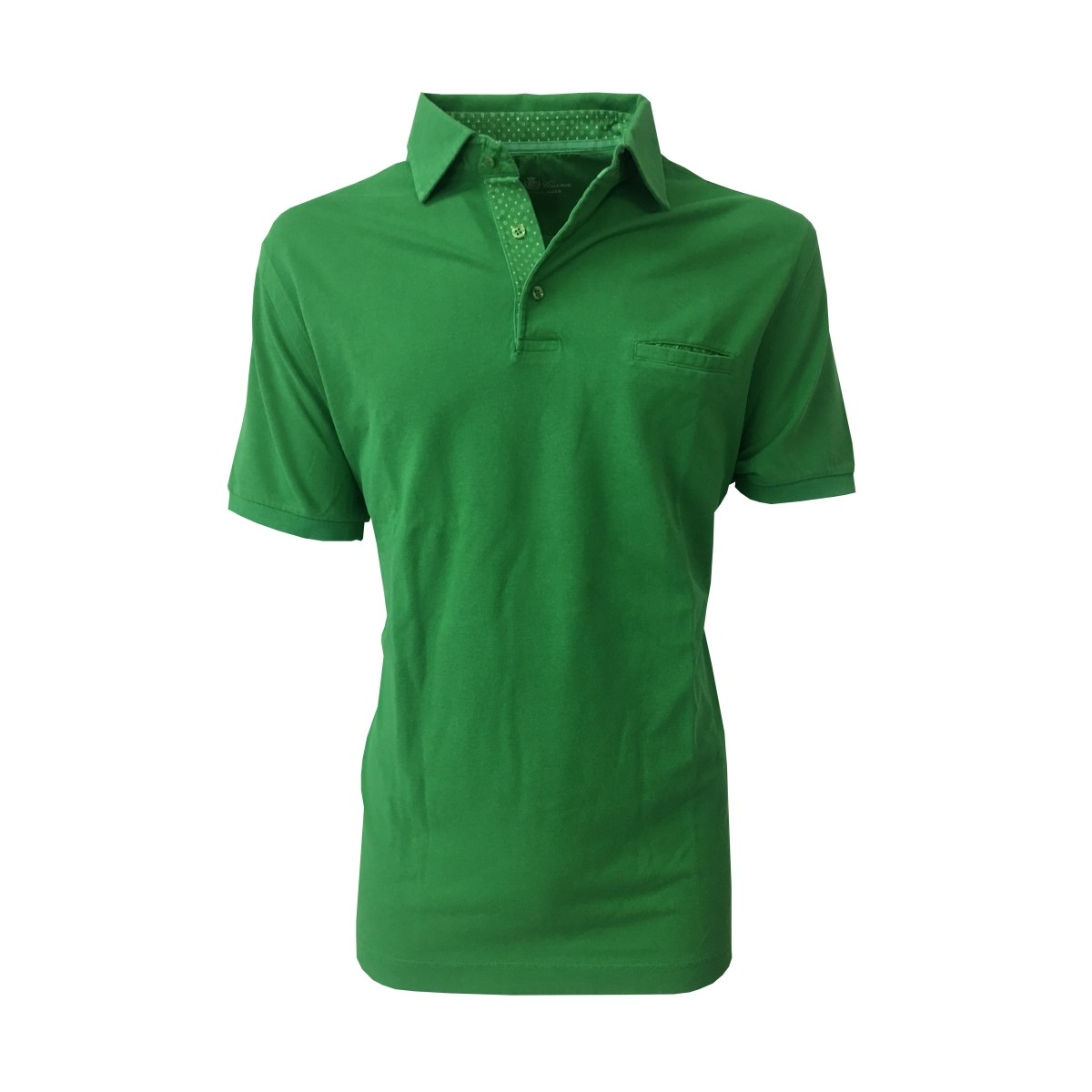 enorme sconto 0b8f4 d601c DELLA CIANA man polo half sleeve green with pocket100 ...