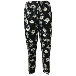 PENNYBLACK trousers woman black / white mod LAMBDA 100% cotton