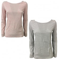 PENNYBLACK t-shirt woman long sleeve stripes mod COLLECTION 100% cotton