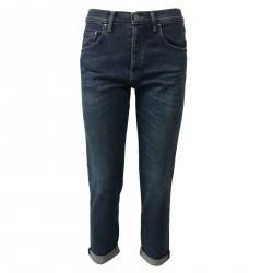 ATELIER CIGALA'S women's jeans regular rise 14-973D BOY-FRIEND MADE IN ITALY