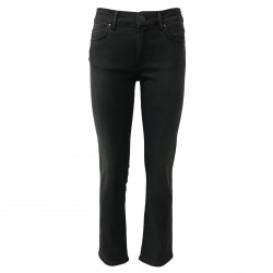 ATELIER CIGALA'S women's jeans black high rise 14-130 STRAIGHT CROP MADE IN ITALY