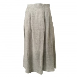 ECCENTRICA women's skirt pearl mod H2/7676 100% linen MADE IN ITALY