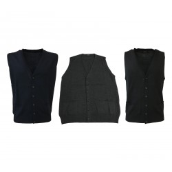 ALPHA STUDIO men's vest with buttons regular mod AU-6006D 100% wool