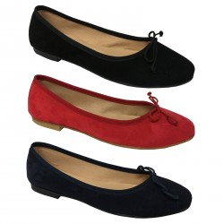 UPPER CLASS ballerina woman suede mod. VALERIA, lined in cotton fabric, 1 cm heel, 100% leather MADE IN ITALY