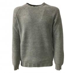 ALPHA STUDIO maglia uomo girocollo grigio lana/cashmere slim mod AU-6501C