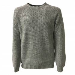 ALPHA STUDIO men's sweater wool/cashmere slim mod AU-6501C 100% wool