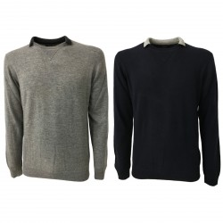 ALPHA STUDIO men's sweater wool/cashmere slim mod AU-6203CS