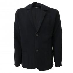 ALPHA STUDIO giacca uomo blu punto stoffa slim fit 100% lana mod AU-6030E