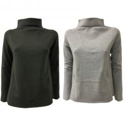 ALPHA STUDIO women's sweater high neck mod AD-7130H 100% wool