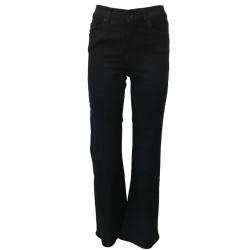 SEVEN7 jeans donna nero zampa vita alta mod RAFFAELLA 29 MIRANDA DARKBLK