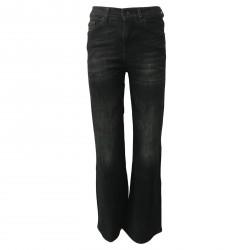 SEVEN7 jeans donna zampa vita alta mod RAFAELLA 2958824 VERDEBLK