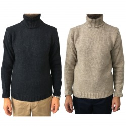 SETTEFILI CASHMERE men's sweater wool high neck mod RA6BUR.BN11 MADE IN ITALY
