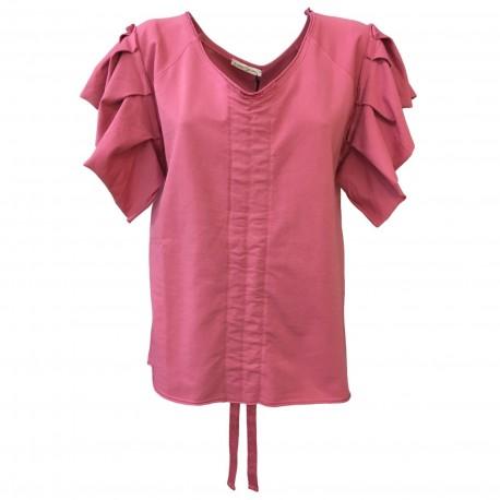 NUMERO PRIMO maglia donna felpa garzata mod S144L 100% cotone MADE IN ITALY