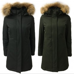 NORWAY 3/4 woman jacket with detachable hood and fur mod THEA 85542