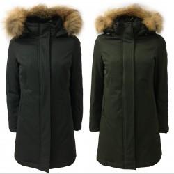 NORWAY giaccone donna 3/4 con cappuccio staccabile e pelliccia mod THEA 85542