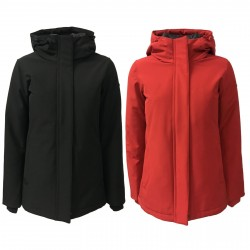 NORWAY woman down jacket red with hood mod MARTHA 85712