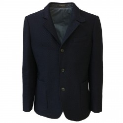 ROYAL ROW man jacket, fancy blue, domestic aviation lightly padded 100% wool MADE IN ITALY