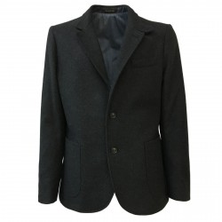 ROYAL ROW man jacket anthracite lining lightly padded aviation, 80% wool 10% cashmere 10% nylon MADE IN ITALY