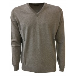 FERRANTE V-knit man dove-gray 100% wool MADE IN ITALY