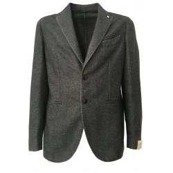 L.B.M.1911 giacca uomo sfoderata grigio vestibilità slim 55% lana 45% poliestere