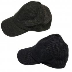 FERRANTE cappello uomo lana mod U17199 BASEBALL con visiera MADE IN ITALY