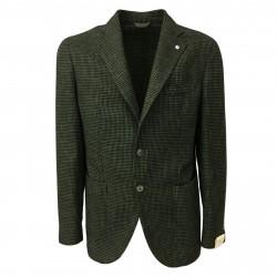 L.B.M 1911 giacca uomo quadri verde/nero 43% cotone 40% lana 17% poliammide 2837