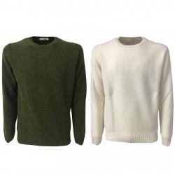 PANICALE maglia uomo girocollo colore bianco 100% lana mod U21461G/M MADE IN ITALY