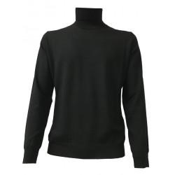 FERRANTE high collar man col. 002 black 100% wool MADE IN ITALY G422802