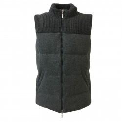 DELLA CIANA gilet uomo grigio 80%lana 20%cashmere imbottitura in piuma art 18494 MADE IN ITALY