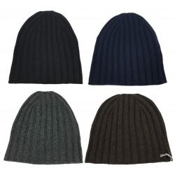 DELLA CIANA cappello da uomo, lavorato a coste, colore moro, 100% cashmere 2/28 MADE IN ITALY