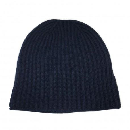 DELLA CIANA cappello da uomo, lavorato a coste, colore beige, 100% cashmere 2/28 MADE IN ITALY
