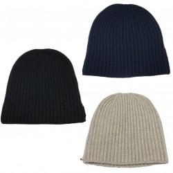 DELLA CIANA cappello uomo a coste 100% cashmere 2/28 art 07921 MADE IN ITALY