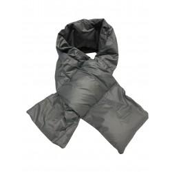 CINELLI sciarpa unisex grigio 100% nylon imbottitura 100% piumino d'oca MADE IN ITALY