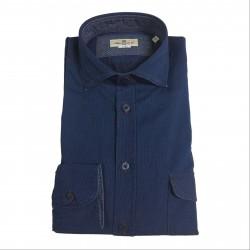 BRANCACCIO camicia uomo blu chiaro dyed 100%cotone RANGER URBAN 6605 tes UN45202