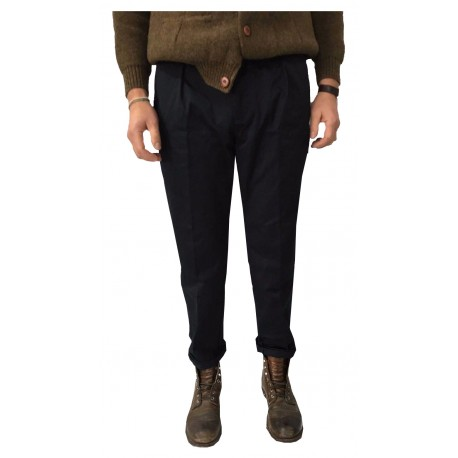 MANIFATTURA CECCARELLI pantalone uomo chino blu 75% cotone 25% poliestere MADE IN ITALY