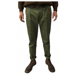 MANIFATTURA CECCARELLI green chino trousers Man 75% Cotton 25% Polyester MADE IN ITALY