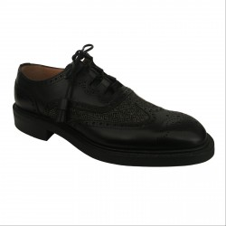 JOSEPH CHEANEY & SONS scarpa uomo nero PITLOCHRY II 100% pelle MADE IN ENGLAND