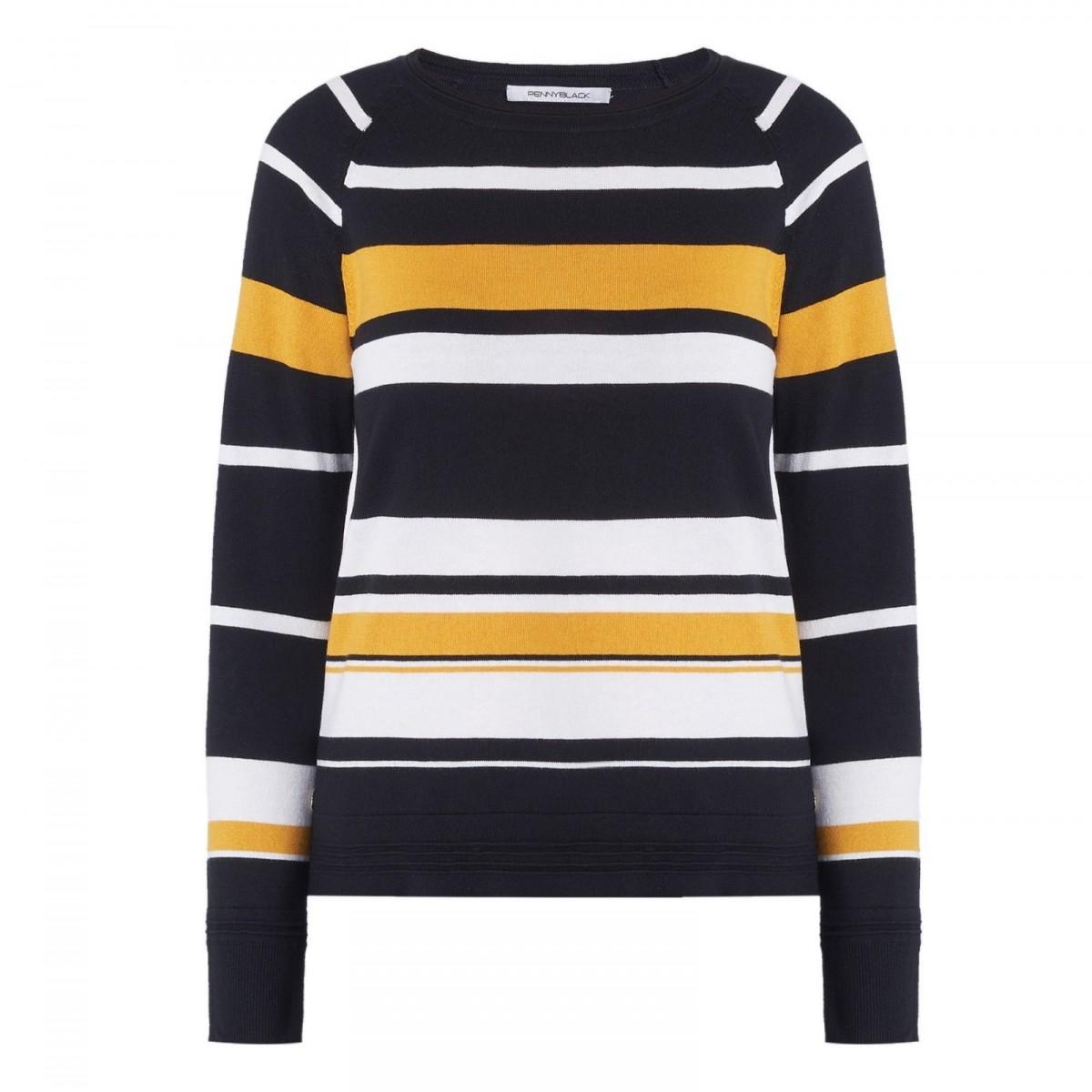 1daa32727bb3 PENNYBLACK woman sweater modal cotton silk slim fit mod OBOISTA