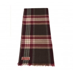 ARCIERI pashmina man bordeaux/brown 60% cashmere 40% merinos MADE IN NEPAL