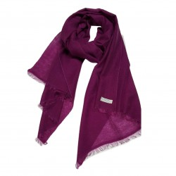 PASHMINA scarf checked design pasta 80% 20% silo MADE IN NEPAL