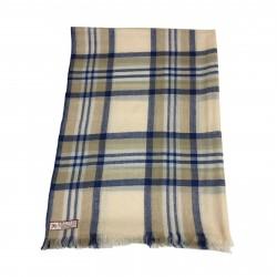 ARCIERI scarf man beige/blue 60% cashmere 40% merinos MADE IN NEPAL