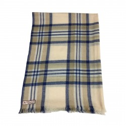 ARCIERI sciarpa uomo quadri beige/blu SZSTMI01 60% cashmere 40% lana MADE IN NEPAL
