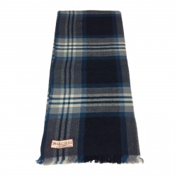ARCIERI scarf man blue/oil 60% cashmere 40% merinos MADE IN NEPAL