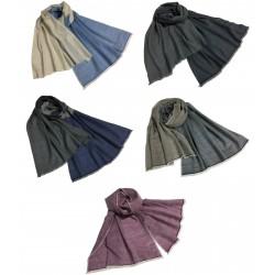 ARCIERI sciarpa uomo cm 70x200 60% cashmere 40% merinos MADE IN NEPAL