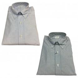 BROOKS BROTHERS camicia uomo oxford a righe 100% cotone Supima MADE IN USA